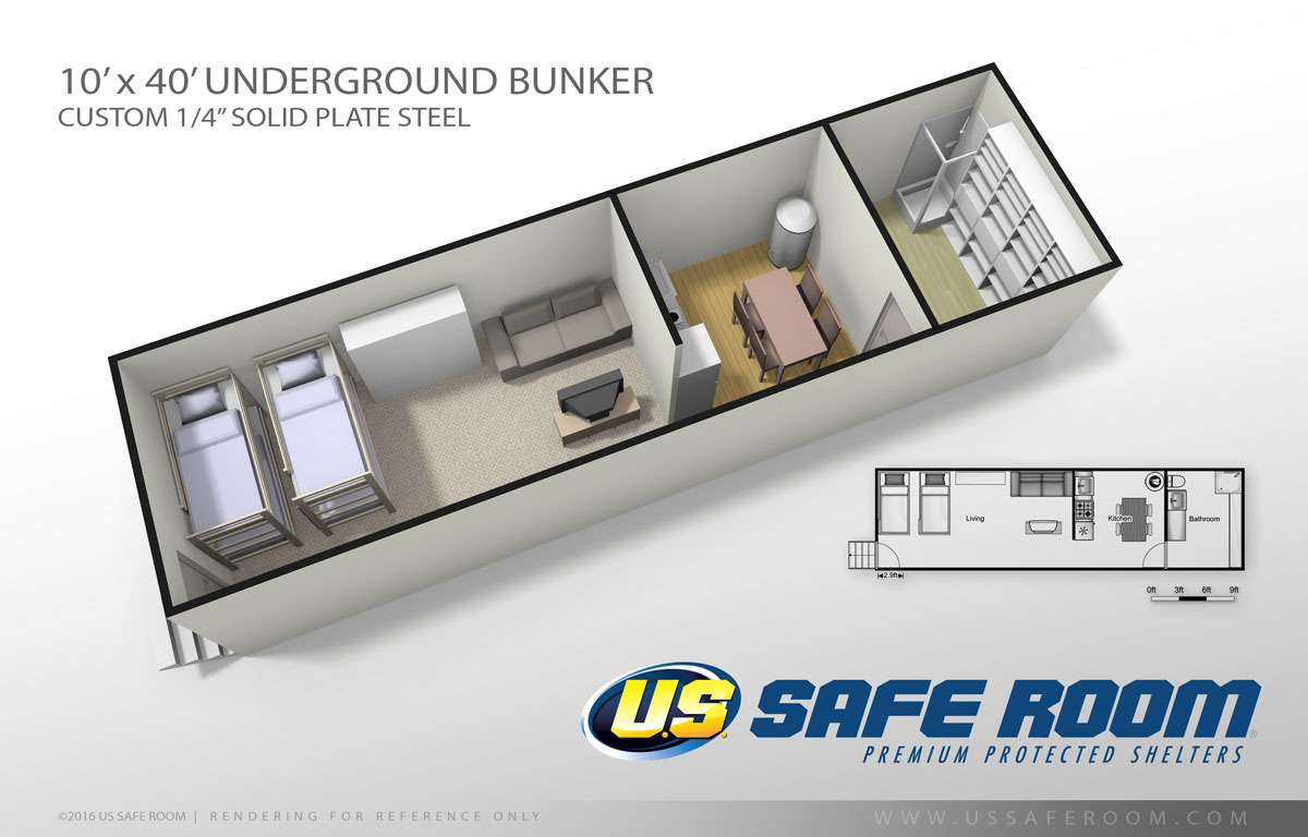 Safe and secure underground bunker