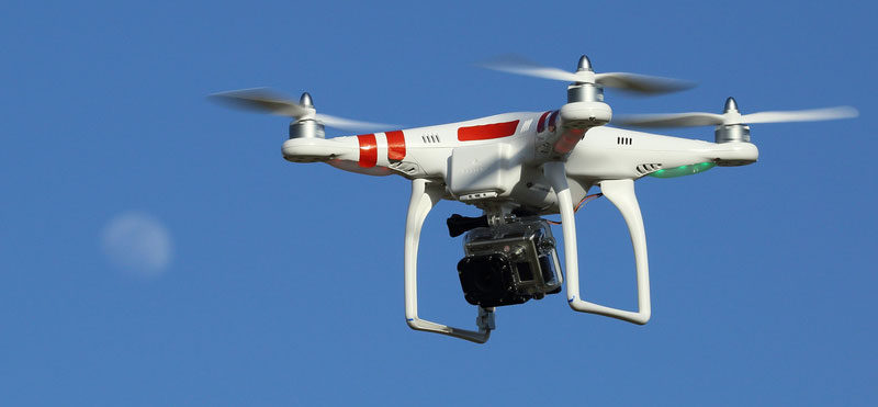 Drone disaster relief carries a camera to save lives.