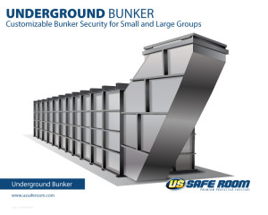 Steel bunker for safety in any emergency