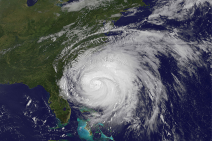 Hurricane Irene space image taken by nasa.