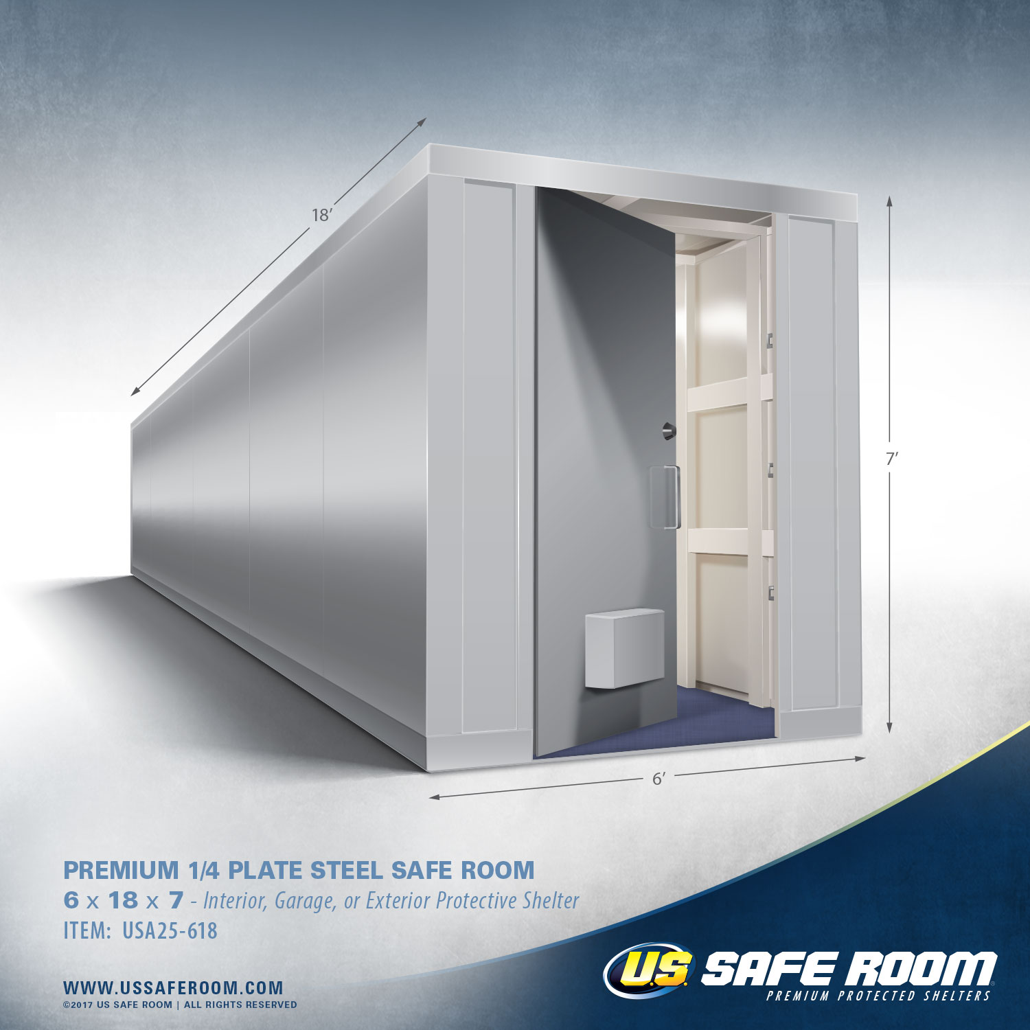 Steel Safe Room 6 x 18