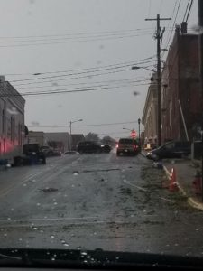 Traffic conditions were extremely dangerous during and after the storm.